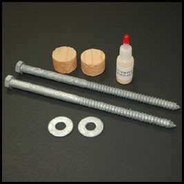 Timber Mantel Hardware Kit with Tapered Plug for a seamless application