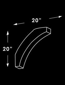 Corner Brace X2M Dimensions