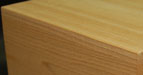 Eased corner option for timber products have slightly rounded corners