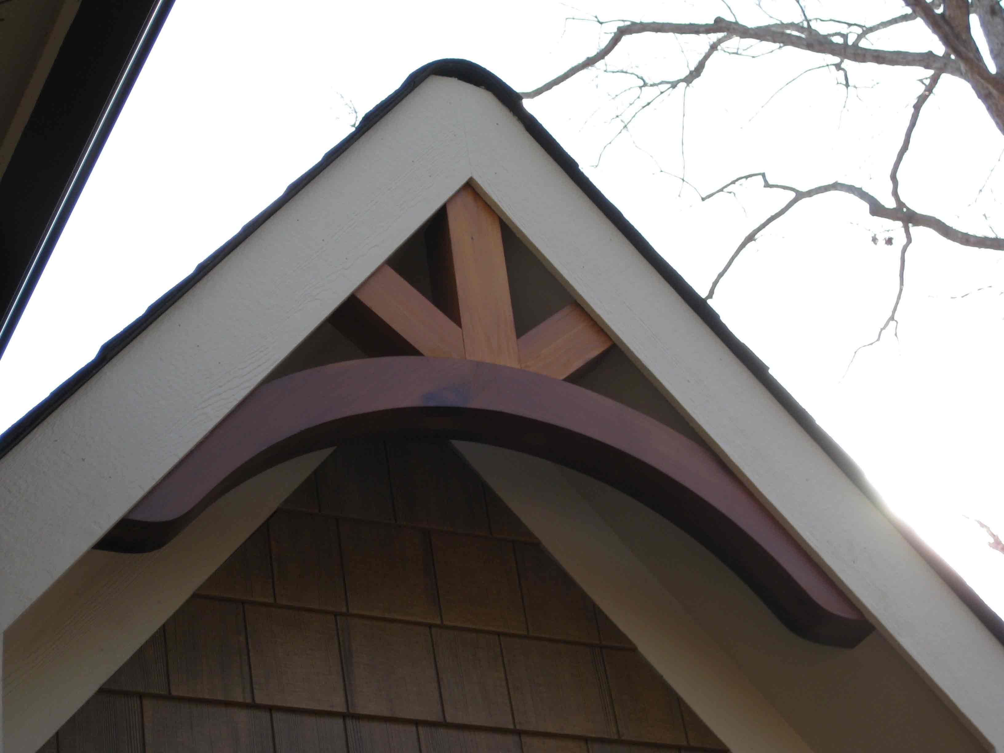 Gable brackets southern woodcraft for Cedar gable brackets