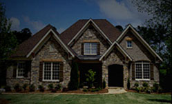 Custom home with headers, shutters, and specialty timber products