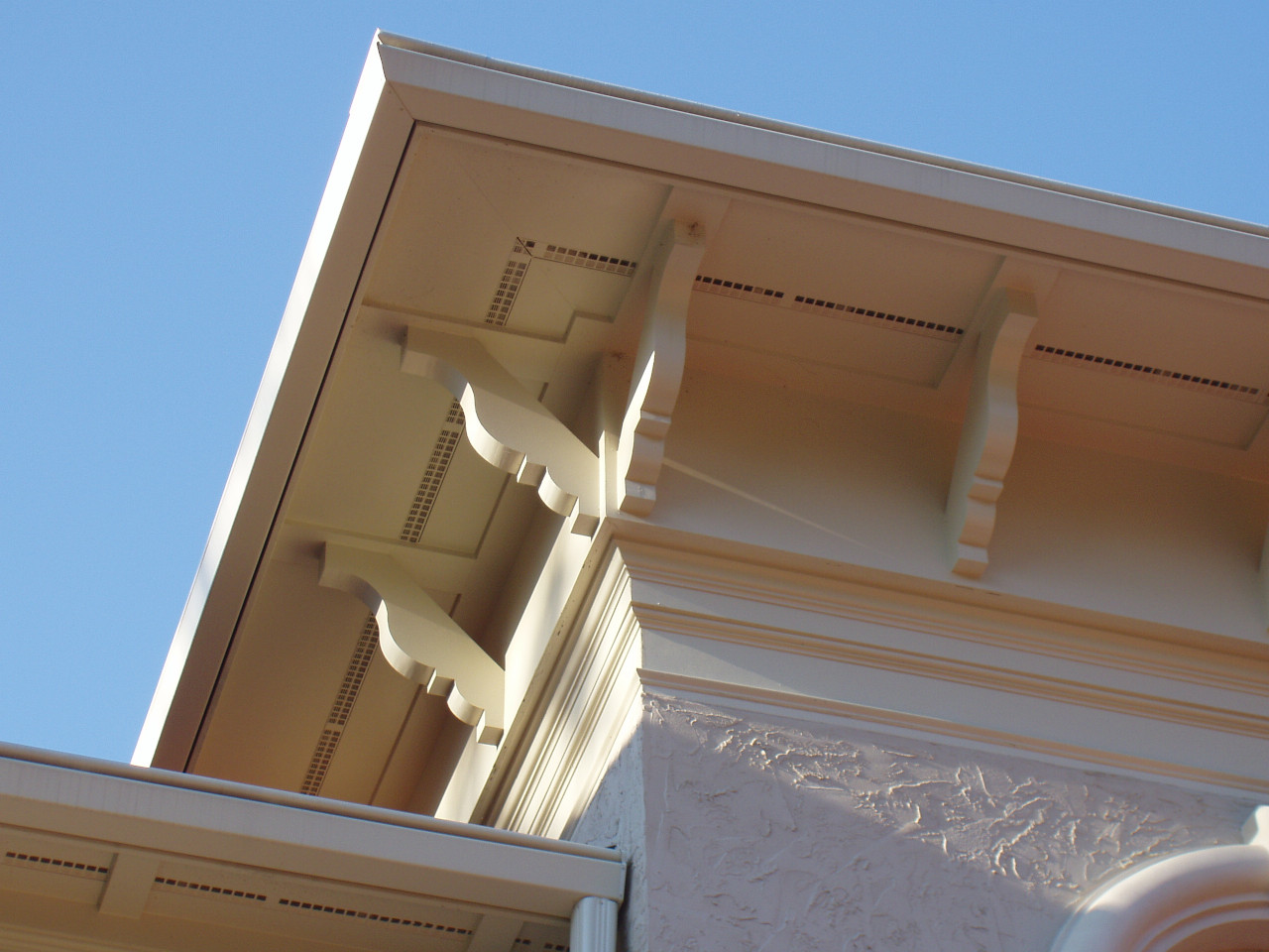 These wood brackets were custom designed to fit this design need.
