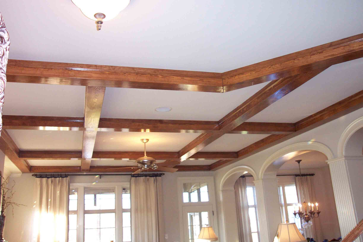 These wood box beams display another of the many ways our products can be used in ceiling applications.