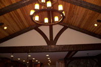 Beams in a high ceiling