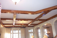 Ceiling Beams on a standard ceiling height