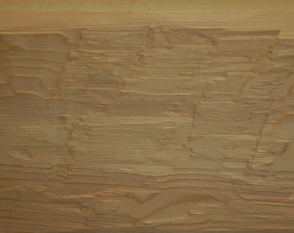 Historically Correct: Rough Hand Cut wood surface texture