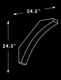 Corner Brace S2 Dimensions