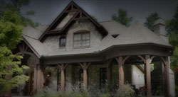 Custom home with specialty timber products from Southern Woodcraft & Design