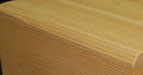 Draw knife corner option for timber products