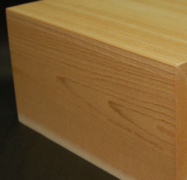 Eased corner for timber products have slightly rounded corners