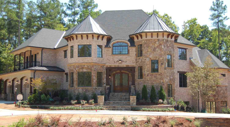 The wood brackets and posts on this home add distinction and curb appeal to the overall appearance of the home