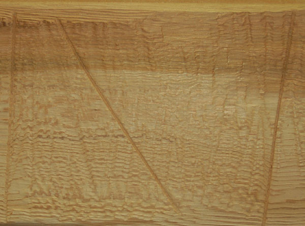 Pitsawn wood surface texture provides a unique and authentic texture with random saw marks and irregularities